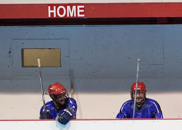 roller hockey bench