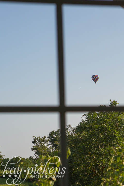 hot air balloon out window