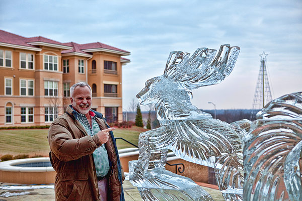 ice sculpture sleigh