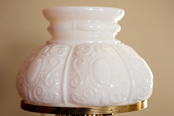 milk glass lampshade