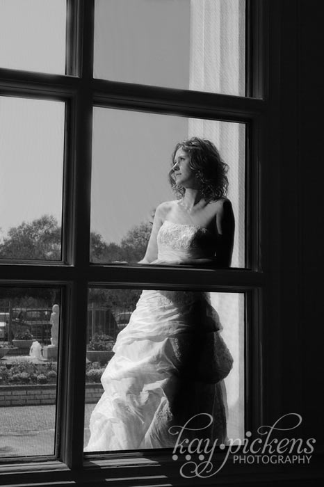 bride through window