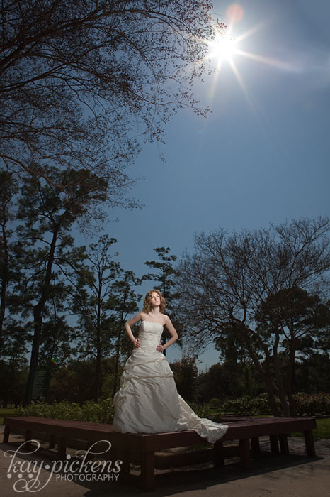 bride in full sun with off camera flash