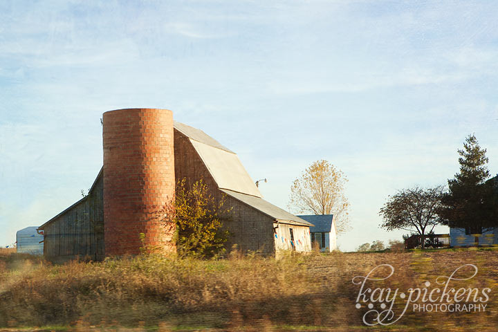 old barn in fall afternoon light