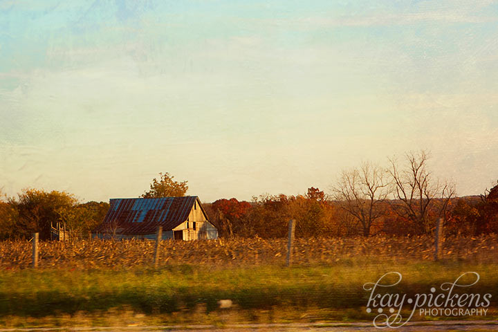 autumn colors and old barn