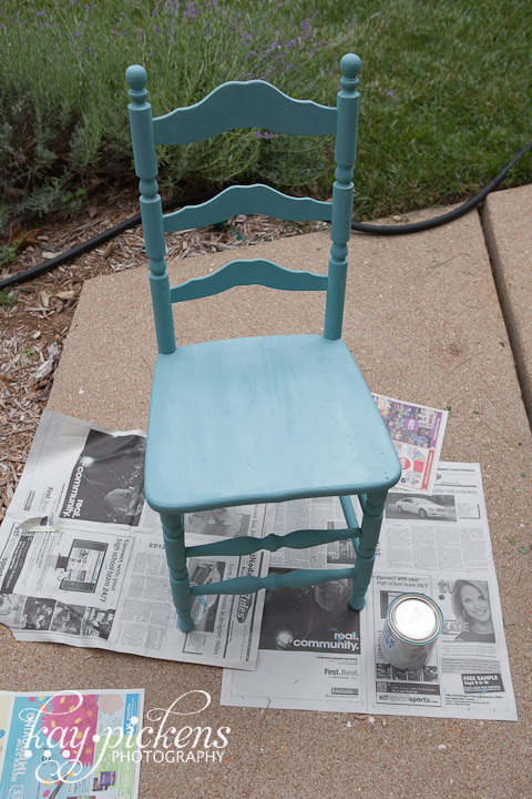 provence chalk paint on chair