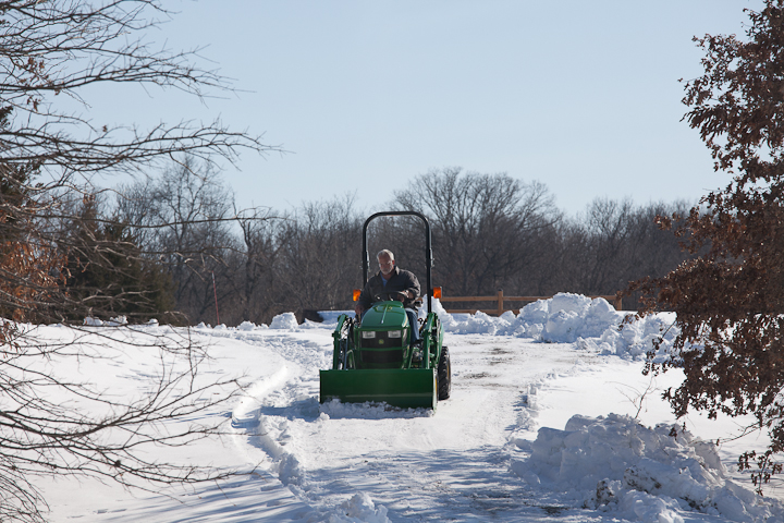 plowing the driveway