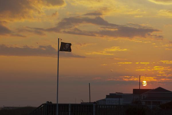 sunset at Holden Beach