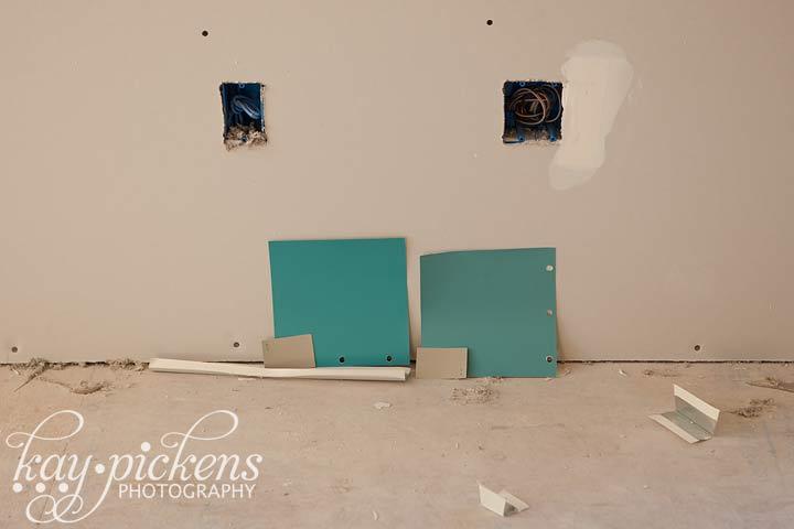 teal walls
