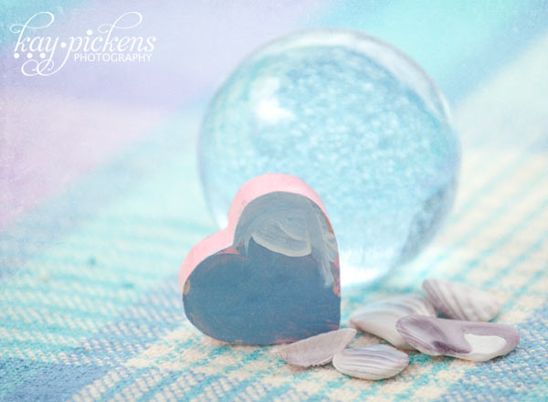 tiny heart and paperweight