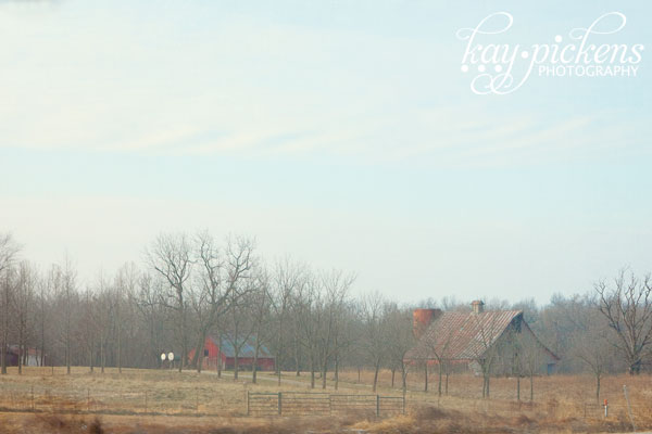 barns in the winter