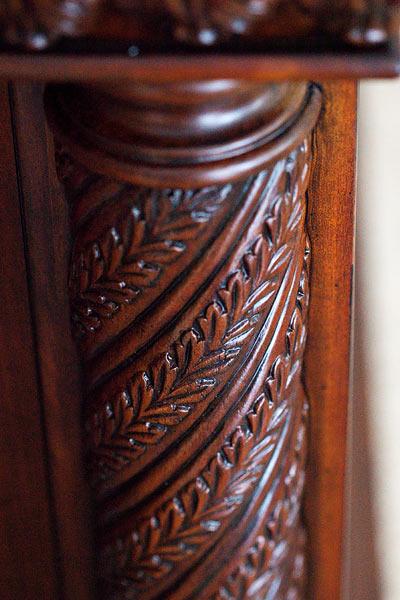 sides of wooden bar